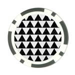 TRIANGLE2 BLACK MARBLE & WHITE LINEN Poker Chip Card Guard