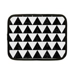 TRIANGLE2 BLACK MARBLE & WHITE LINEN Netbook Case (Small)  Front