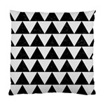 TRIANGLE2 BLACK MARBLE & WHITE LINEN Standard Cushion Case (Two Sides)