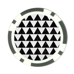 Triangle2 Black Marble & White Linen Poker Chip Card Guard (10 Pack) by trendistuff