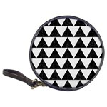 TRIANGLE2 BLACK MARBLE & WHITE LINEN Classic 20-CD Wallets