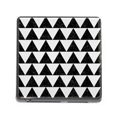 Triangle2 Black Marble & White Linen Memory Card Reader (square) by trendistuff