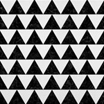TRIANGLE2 BLACK MARBLE & WHITE LINEN Magic Photo Cubes