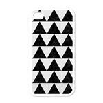 TRIANGLE2 BLACK MARBLE & WHITE LINEN Apple iPhone 4 Case (White)