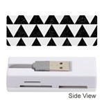 TRIANGLE2 BLACK MARBLE & WHITE LINEN Memory Card Reader (Stick)