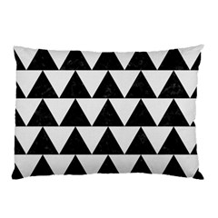 TRIANGLE2 BLACK MARBLE & WHITE LINEN Pillow Case (Two Sides)