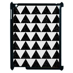 Triangle2 Black Marble & White Linen Apple Ipad 2 Case (black) by trendistuff