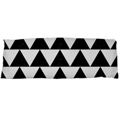 Triangle2 Black Marble & White Linen Body Pillow Case (dakimakura) by trendistuff