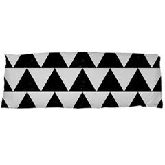TRIANGLE2 BLACK MARBLE & WHITE LINEN Body Pillow Case Dakimakura (Two Sides)