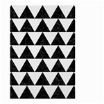 TRIANGLE2 BLACK MARBLE & WHITE LINEN Small Garden Flag (Two Sides)