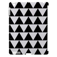 Triangle2 Black Marble & White Linen Apple Ipad 3/4 Hardshell Case (compatible With Smart Cover) by trendistuff