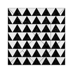 TRIANGLE2 BLACK MARBLE & WHITE LINEN Acrylic Tangram Puzzle (6  x 6 )