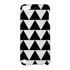 Triangle2 Black Marble & White Linen Apple Ipod Touch 5 Hardshell Case by trendistuff