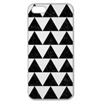 TRIANGLE2 BLACK MARBLE & WHITE LINEN Apple Seamless iPhone 5 Case (Clear)