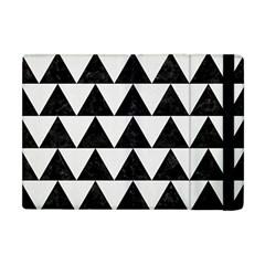 TRIANGLE2 BLACK MARBLE & WHITE LINEN Apple iPad Mini Flip Case