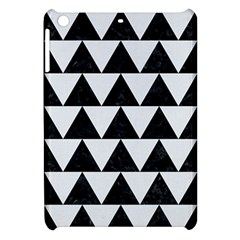Triangle2 Black Marble & White Linen Apple Ipad Mini Hardshell Case by trendistuff