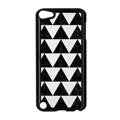 Triangle2 Black Marble & White Linen Apple Ipod Touch 5 Case (black) by trendistuff