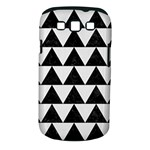 TRIANGLE2 BLACK MARBLE & WHITE LINEN Samsung Galaxy S III Classic Hardshell Case (PC+Silicone)