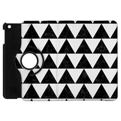 Triangle2 Black Marble & White Linen Apple Ipad Mini Flip 360 Case by trendistuff