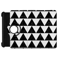 Triangle2 Black Marble & White Linen Kindle Fire Hd 7  by trendistuff