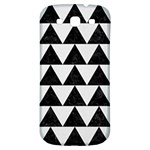 TRIANGLE2 BLACK MARBLE & WHITE LINEN Samsung Galaxy S3 S III Classic Hardshell Back Case