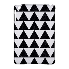 Triangle2 Black Marble & White Linen Apple Ipad Mini Hardshell Case (compatible With Smart Cover) by trendistuff