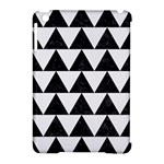 TRIANGLE2 BLACK MARBLE & WHITE LINEN Apple iPad Mini Hardshell Case (Compatible with Smart Cover)