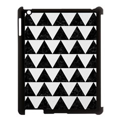 Triangle2 Black Marble & White Linen Apple Ipad 3/4 Case (black) by trendistuff