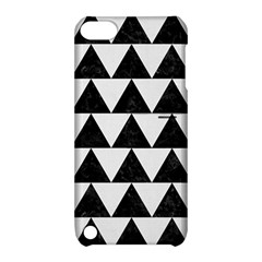 Triangle2 Black Marble & White Linen Apple Ipod Touch 5 Hardshell Case With Stand by trendistuff