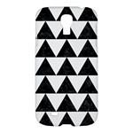 TRIANGLE2 BLACK MARBLE & WHITE LINEN Samsung Galaxy S4 I9500/I9505 Hardshell Case