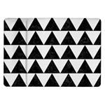 TRIANGLE2 BLACK MARBLE & WHITE LINEN Samsung Galaxy Tab 10.1  P7500 Flip Case