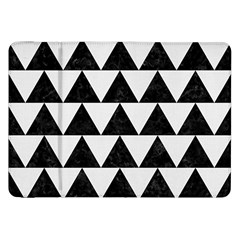 Triangle2 Black Marble & White Linen Samsung Galaxy Tab 8 9  P7300 Flip Case by trendistuff