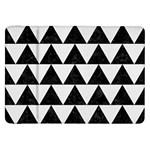TRIANGLE2 BLACK MARBLE & WHITE LINEN Samsung Galaxy Tab 8.9  P7300 Flip Case