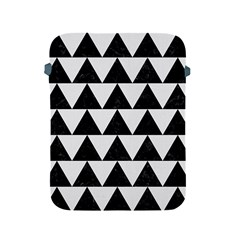 Triangle2 Black Marble & White Linen Apple Ipad 2/3/4 Protective Soft Cases by trendistuff