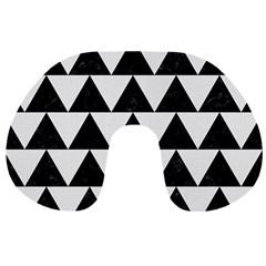 TRIANGLE2 BLACK MARBLE & WHITE LINEN Travel Neck Pillows