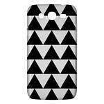 TRIANGLE2 BLACK MARBLE & WHITE LINEN Samsung Galaxy Mega 5.8 I9152 Hardshell Case