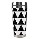 TRIANGLE2 BLACK MARBLE & WHITE LINEN Stainless Steel Travel Tumblers