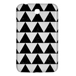 TRIANGLE2 BLACK MARBLE & WHITE LINEN Samsung Galaxy Tab 3 (7 ) P3200 Hardshell Case