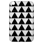 TRIANGLE2 BLACK MARBLE & WHITE LINEN Samsung Galaxy Tab 3 (8 ) T3100 Hardshell Case