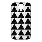 TRIANGLE2 BLACK MARBLE & WHITE LINEN Samsung Galaxy S4 Classic Hardshell Case (PC+Silicone)