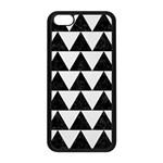 TRIANGLE2 BLACK MARBLE & WHITE LINEN Apple iPhone 5C Seamless Case (Black)