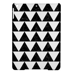 Triangle2 Black Marble & White Linen Ipad Air Hardshell Cases by trendistuff