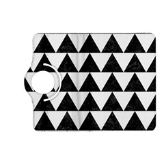 Triangle2 Black Marble & White Linen Kindle Fire Hd (2013) Flip 360 Case by trendistuff