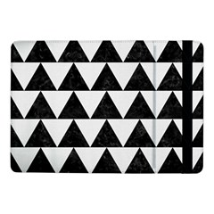 Triangle2 Black Marble & White Linen Samsung Galaxy Tab Pro 10 1  Flip Case by trendistuff