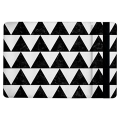Triangle2 Black Marble & White Linen Ipad Air Flip by trendistuff