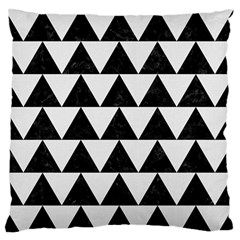 Triangle2 Black Marble & White Linen Large Flano Cushion Case (two Sides) by trendistuff