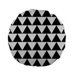 TRIANGLE2 BLACK MARBLE & WHITE LINEN Standard 15  Premium Flano Round Cushions