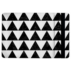 Triangle2 Black Marble & White Linen Ipad Air 2 Flip by trendistuff