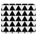 TRIANGLE2 BLACK MARBLE & WHITE LINEN Double Sided Flano Blanket (Small)