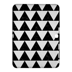 Triangle2 Black Marble & White Linen Samsung Galaxy Tab 4 (10 1 ) Hardshell Case  by trendistuff